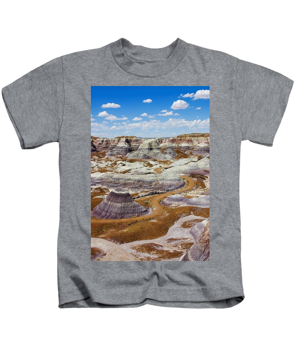 Painted Desert Kids T-Shirt featuring the photograph Yea Though I Walk by Skip Hunt