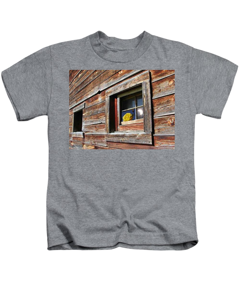 Barn Kids T-Shirt featuring the digital art Yellow Rose Eclipse by Tim Allen