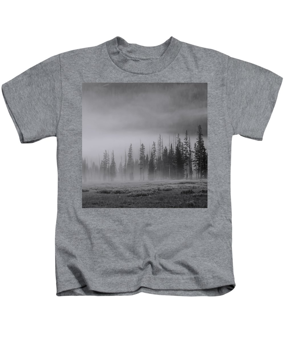 America Kids T-Shirt featuring the photograph Yellowstone 148 by Ingrid Smith-Johnsen