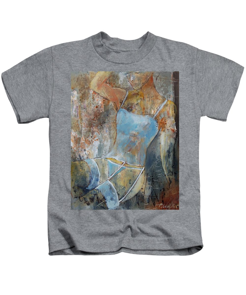 Nude Kids T-Shirt featuring the painting Young Girl 451108 by Pol Ledent