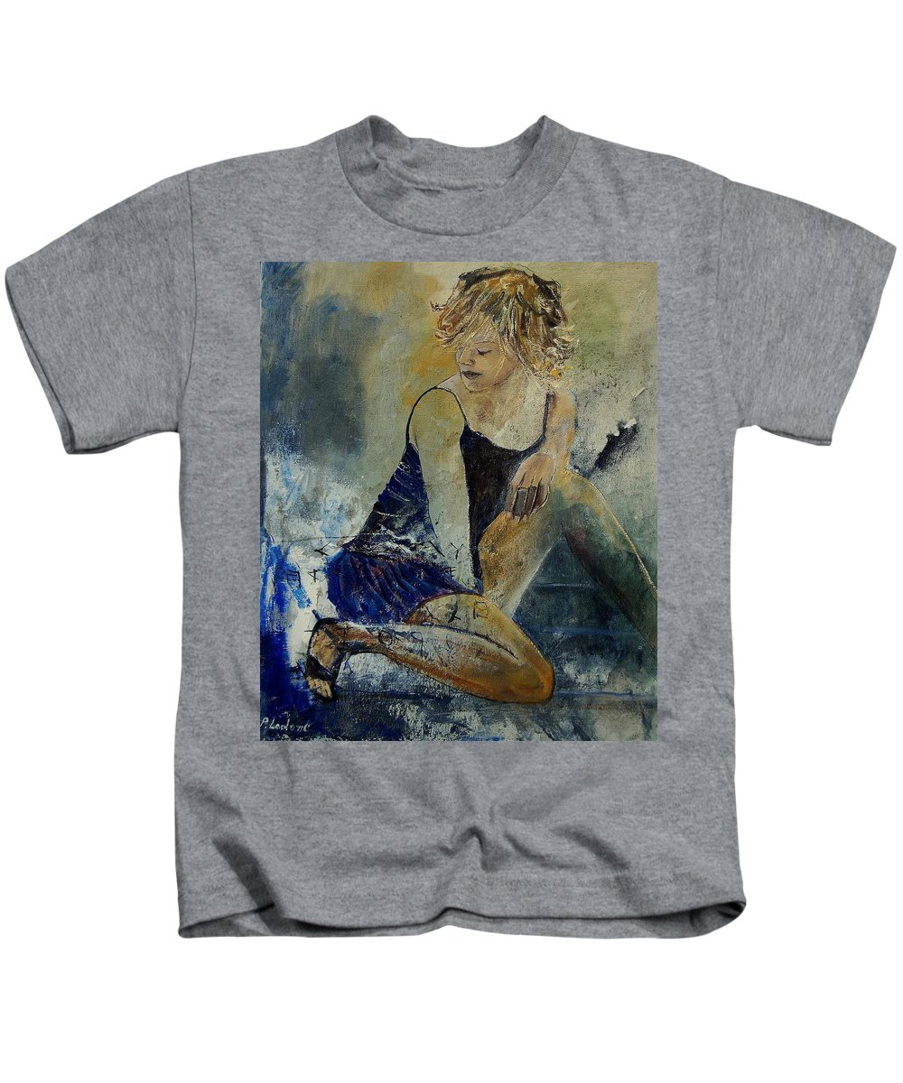 Nude Kids T-Shirt featuring the painting Young Girl 5689474 by Pol Ledent