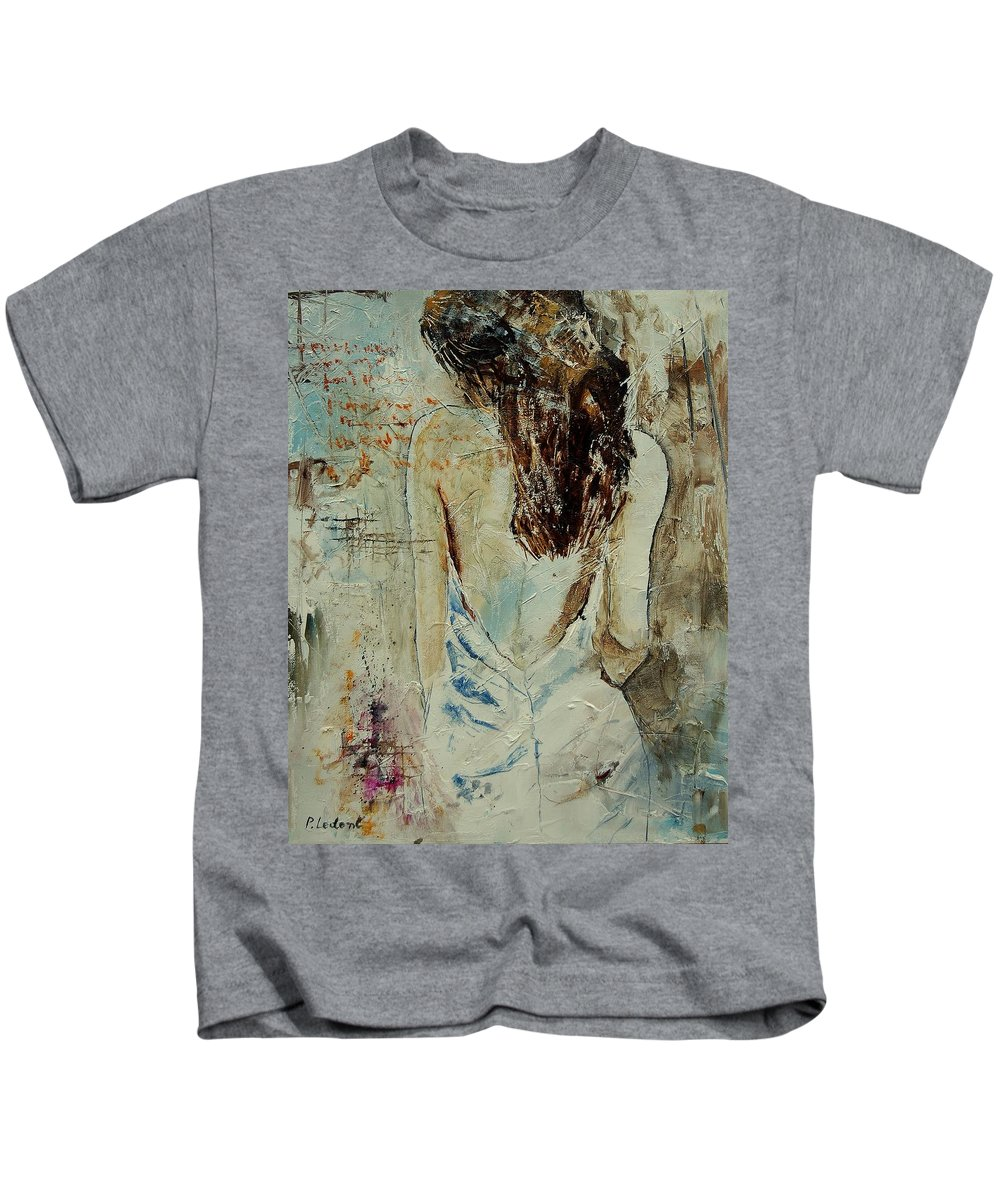 Nude Kids T-Shirt featuring the painting Young Girl 64 by Pol Ledent
