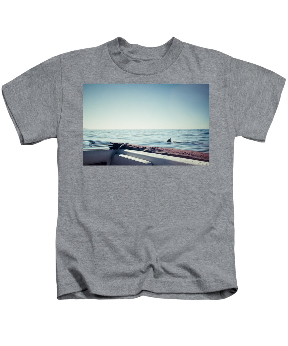 Landscape Kids T-Shirt featuring the photograph You're Gonna Need A Bigger Boat by Justin Carrasquillo
