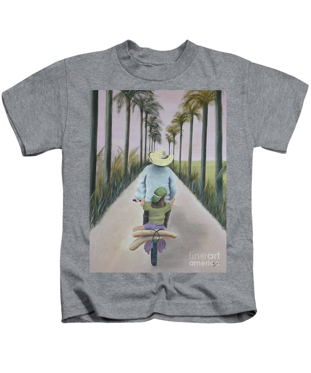Tropical Kids T-Shirt featuring the painting You're The Best by Kris Crollard