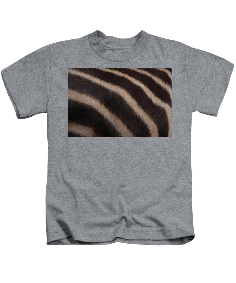 Zebra Stripes Kids T-Shirt featuring the digital art Zebra Stripes by Ernie Echols