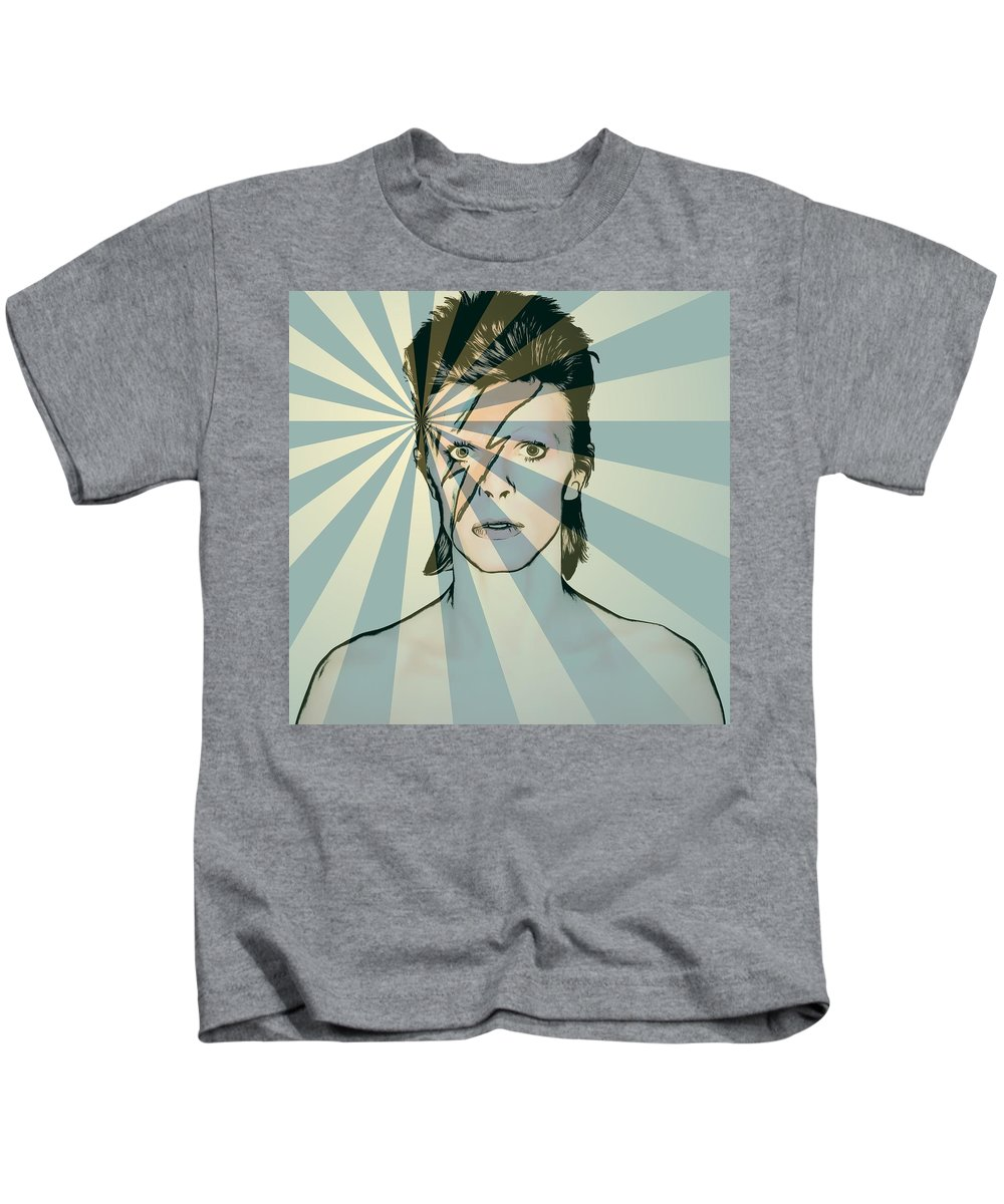 Ziggy Kids T-Shirt featuring the mixed media Ziggy by Dan Sproul