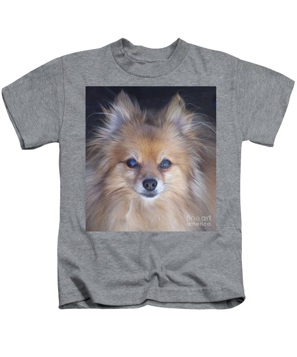 Dog Kids T-Shirt featuring the photograph Zoom by Brian Commerford