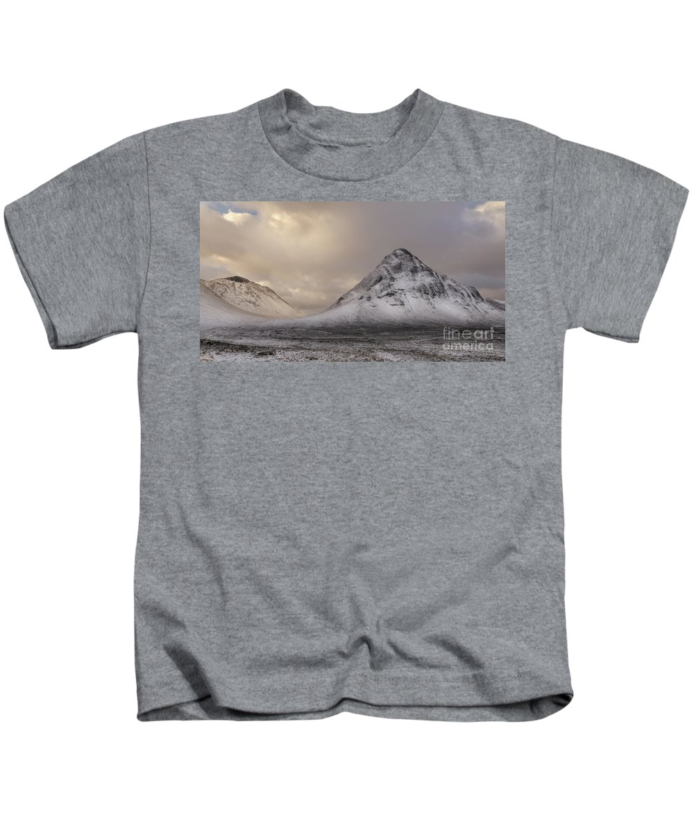 Bauchaille Kids T-Shirt featuring the photograph Buachaille Etive Beag by Keith Thorburn LRPS EFIAP CPAGB
