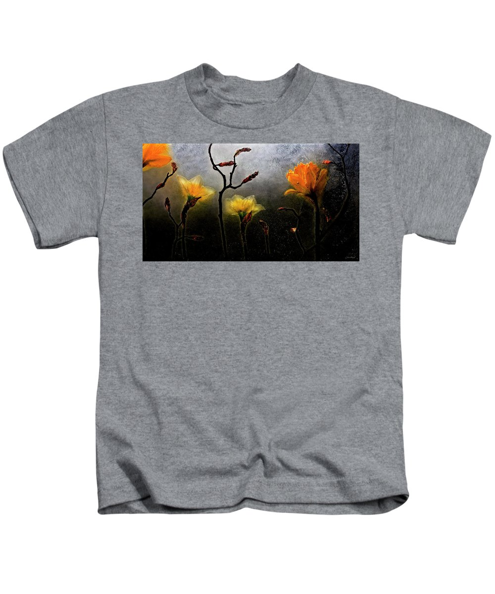 Kids T-Shirt featuring the photograph Earth To Heaven by Carmen Moise