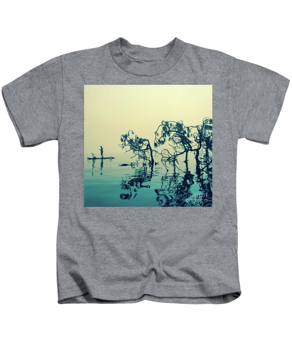 Kids T-Shirt featuring the photograph Paddle Board Adventure by Whitney Davison