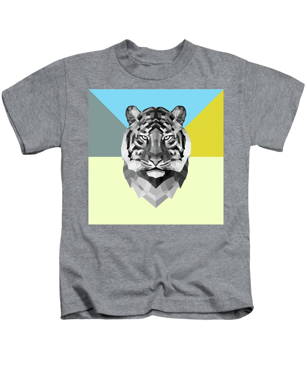 Tiger Kids T-Shirt featuring the digital art Party Tiger by Naxart Studio