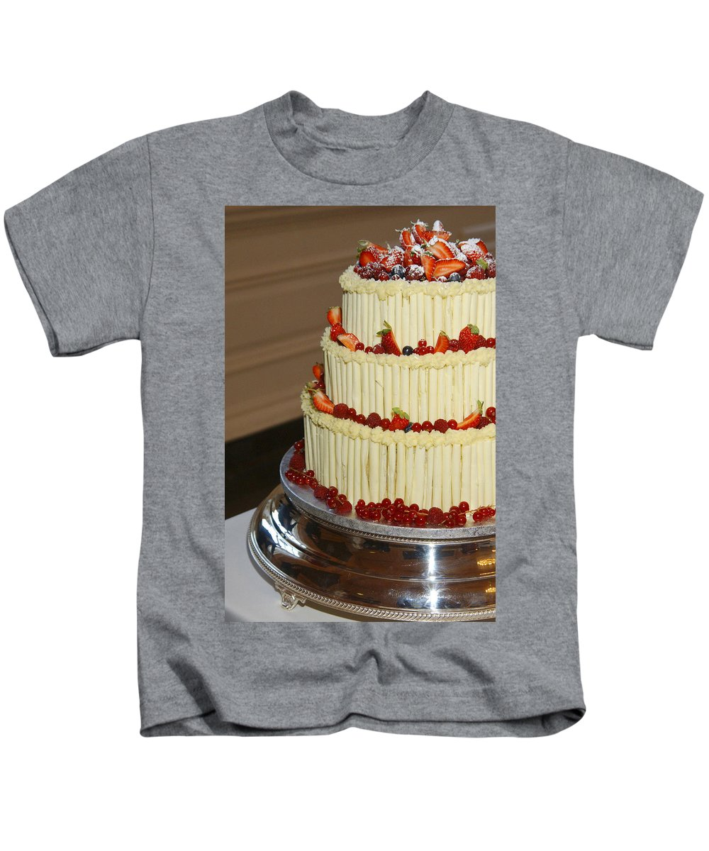 Wedding Kids T-Shirt featuring the photograph 3 Layer Wedding Cake by Victor Lord Denovan