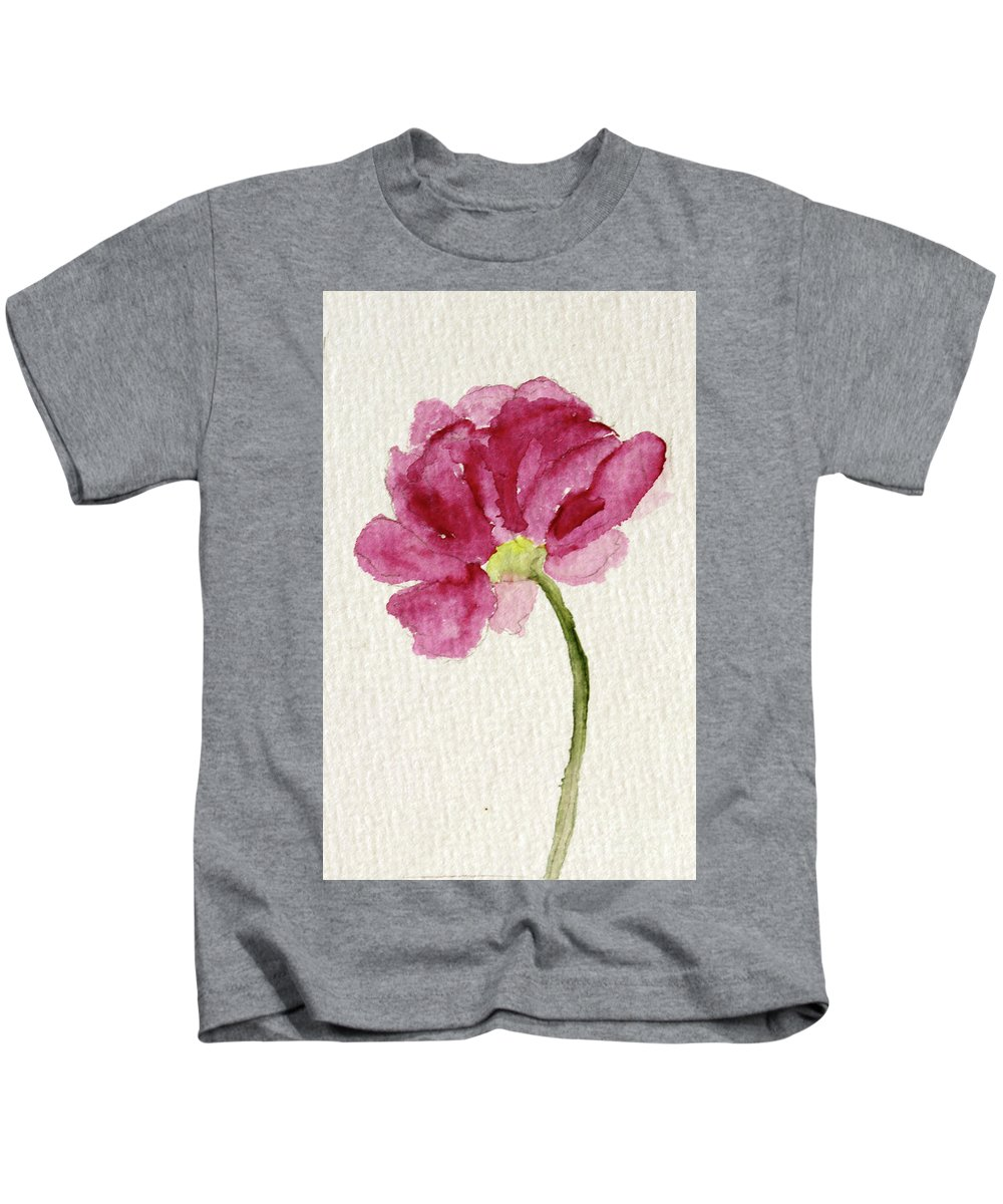 Pink Peony Kids T-Shirt featuring the painting Pink Peony - Sold by Christiane Schulze Art And Photography