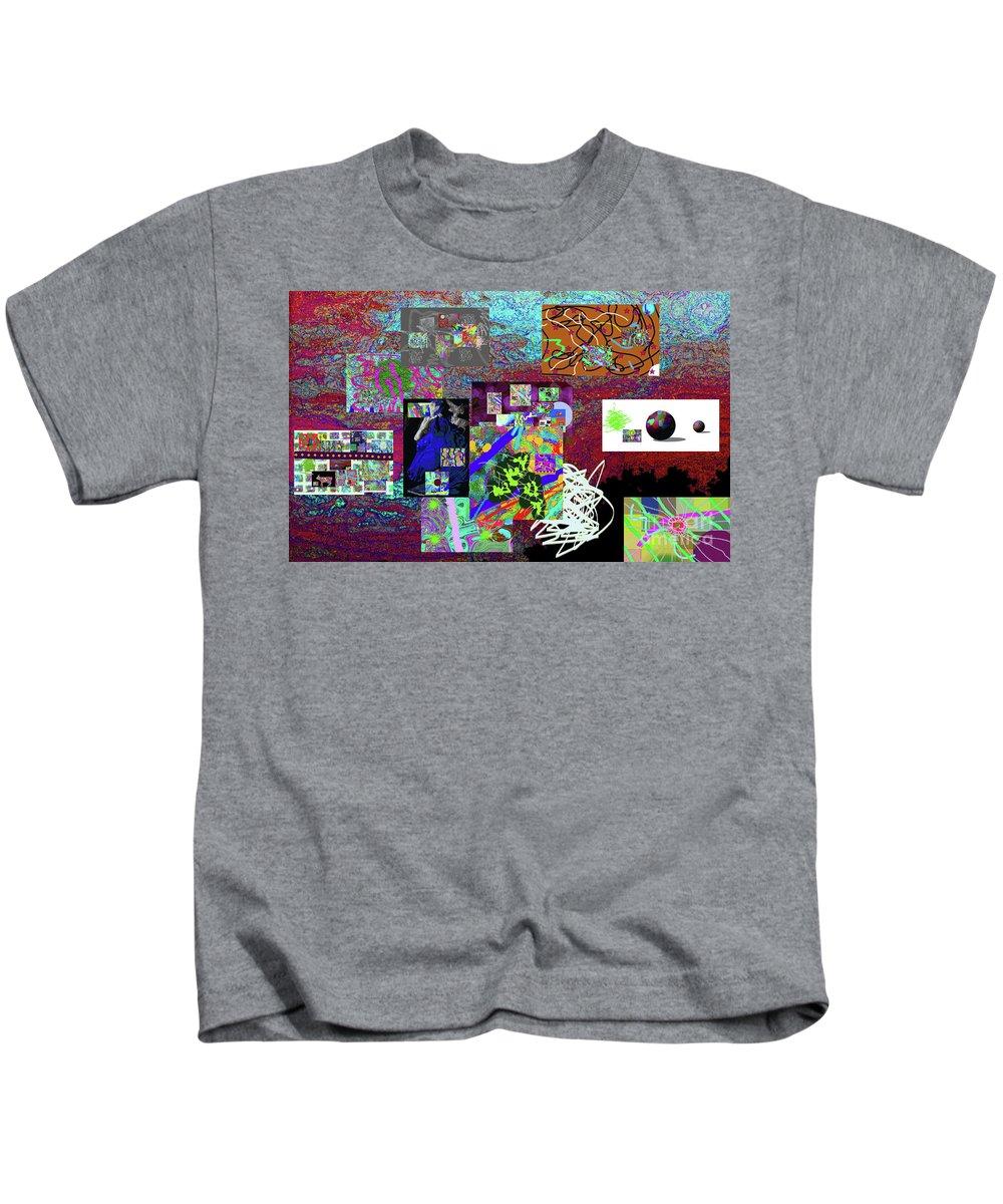 Walter Paul Bebirian Kids T-Shirt featuring the digital art 9-12-2015abcdefghij by Walter Paul Bebirian