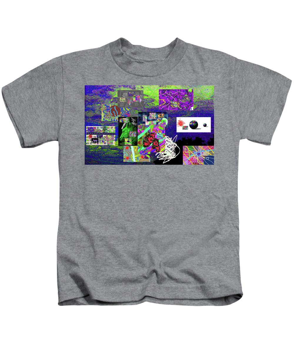 Walter Paul Bebirian Kids T-Shirt featuring the digital art 9-12-2015abcdefghijklmnopqrtu by Walter Paul Bebirian