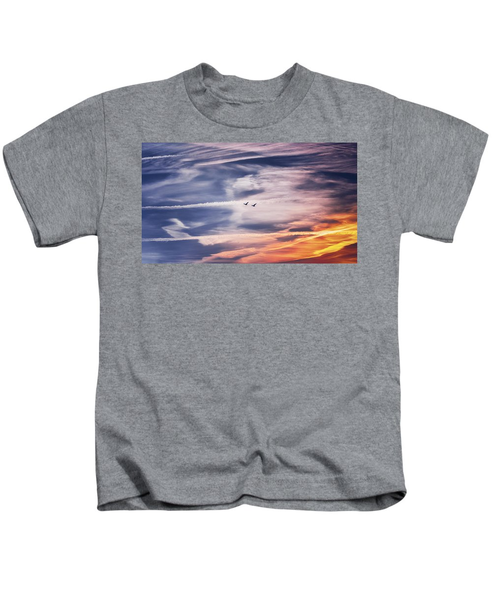 Sky Kids T-Shirt featuring the photograph Back To The Sky by Jaroslav Buna