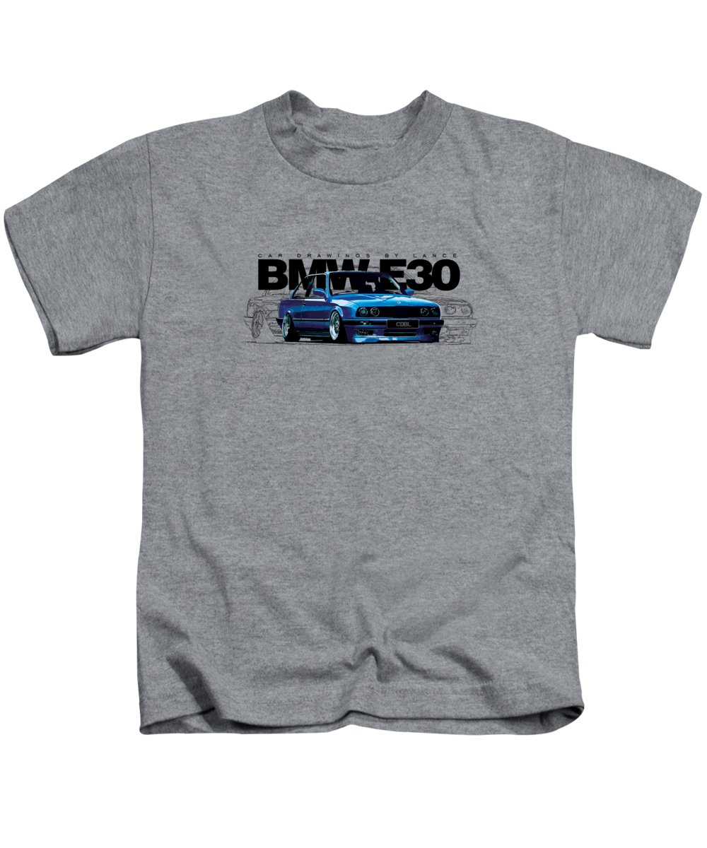 Automotive Drawings Kids T-Shirts