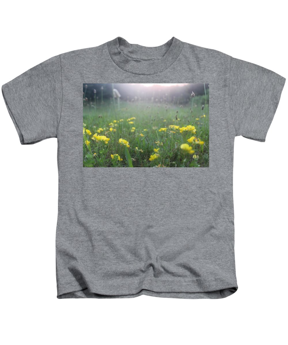 Wild Flowers Kids T-Shirt featuring the photograph Catching Ray's by Brittany Galipeau