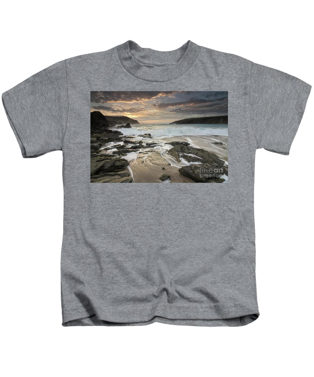 Clogher Strand Kids T-Shirt featuring the photograph Clogher Strand Dingle Kerry Ireland by George Jackson