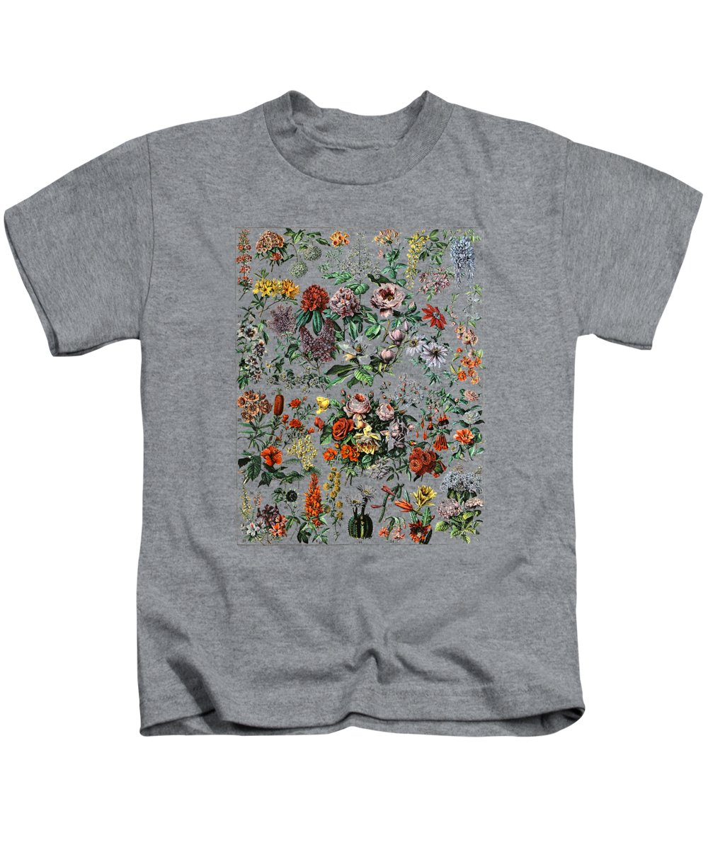 girls' Novelty T-shirts Kids T-Shirt featuring the photograph Floral Botanical Cactus Chart Flower Plant Wildflower Tshirt by Unique Tees