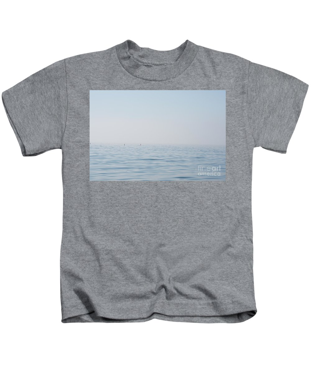 Maine Kids T-Shirt featuring the photograph Fog Over Southern Maine by Jacqueline Temkin