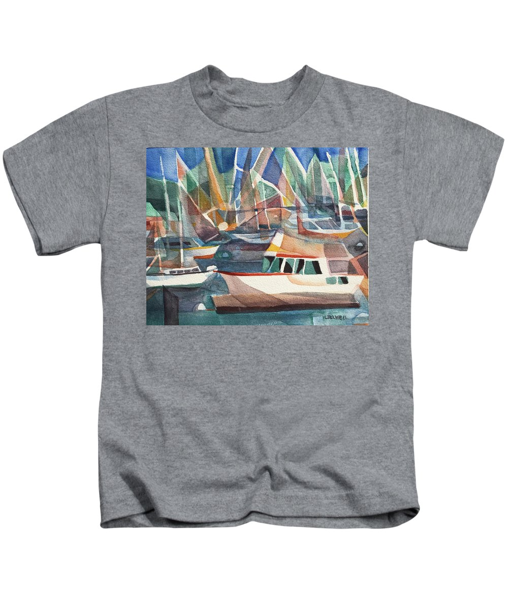 Harbor Island Kids T-Shirt featuring the painting Harbor Island by Lynne Bolwell