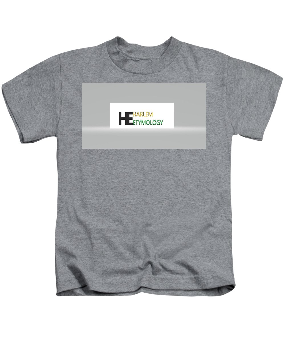 Kids T-Shirt featuring the digital art He by Andrew Johnson