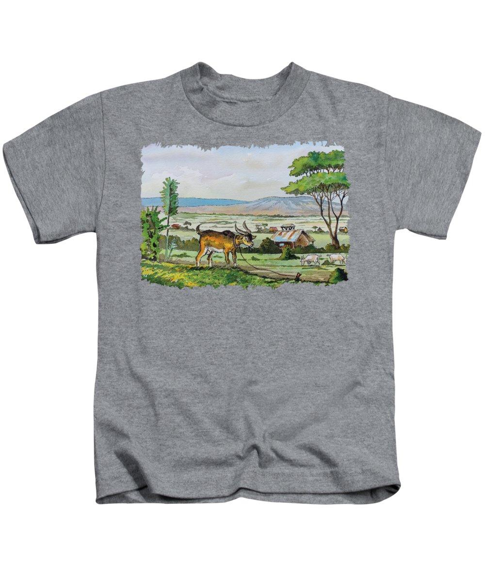 Greenery Paintings Kids T-Shirts