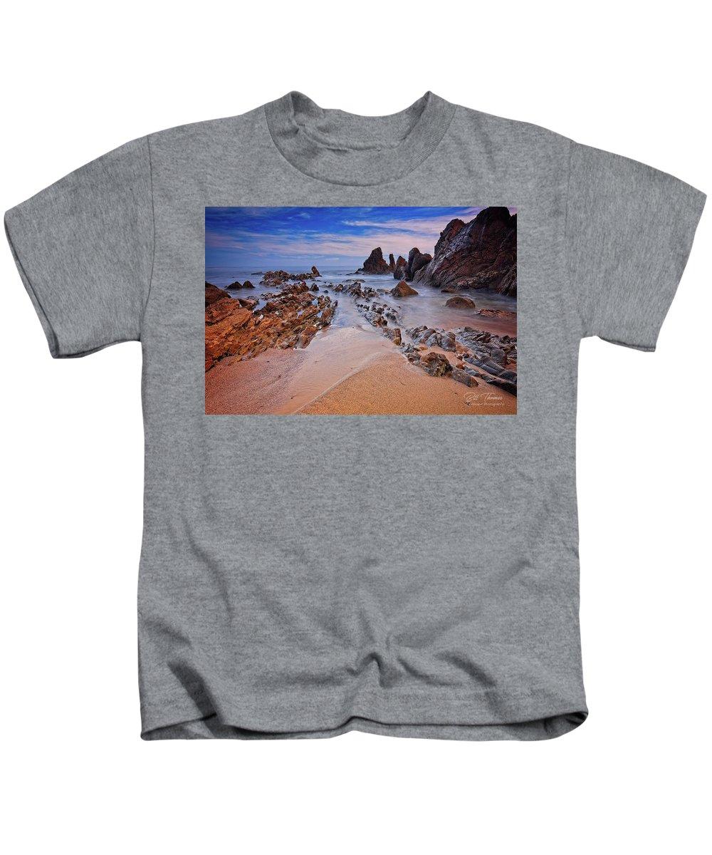 Little Corona Del Mar Beach Kids T-Shirt featuring the photograph Little Corona Del Mar Beach Vi by Bill Thomas