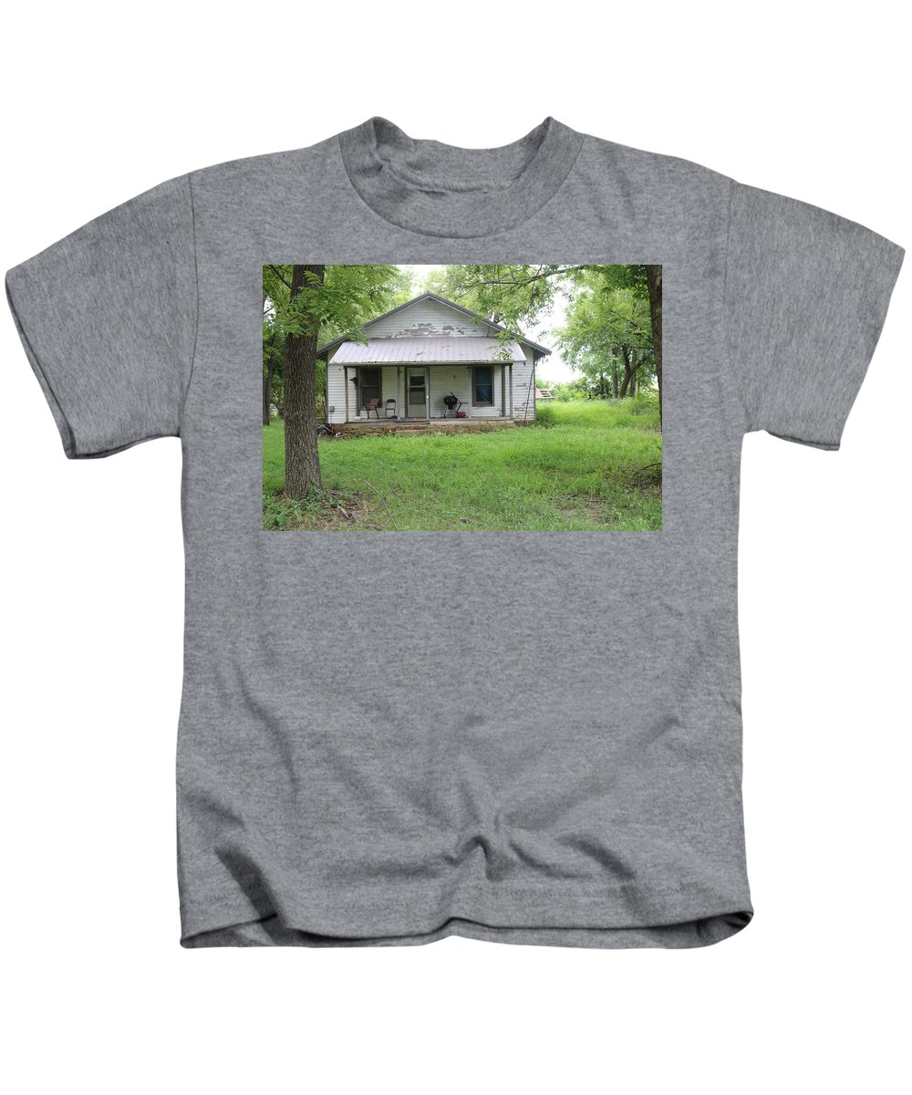 House Kids T-Shirt featuring the photograph Lonely House 8 by Peter McCallum