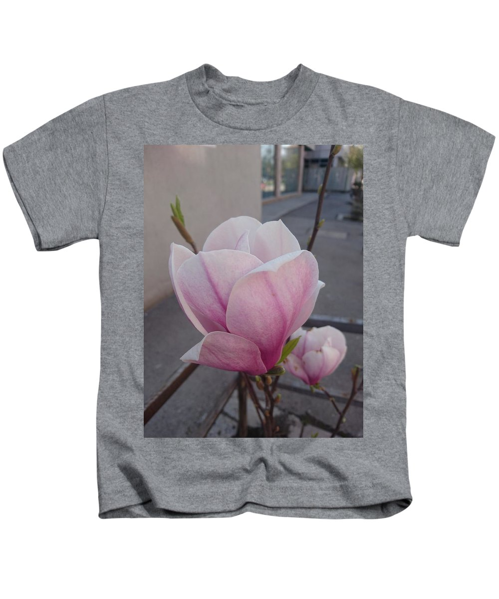 Kids T-Shirt featuring the photograph Magnolia by Anzhelina Georgieva