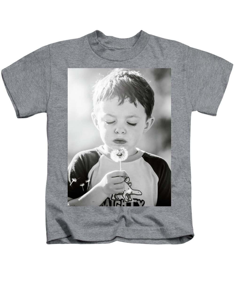 Boy Kids T-Shirt featuring the photograph Make A Wish by Jonathan Hansen