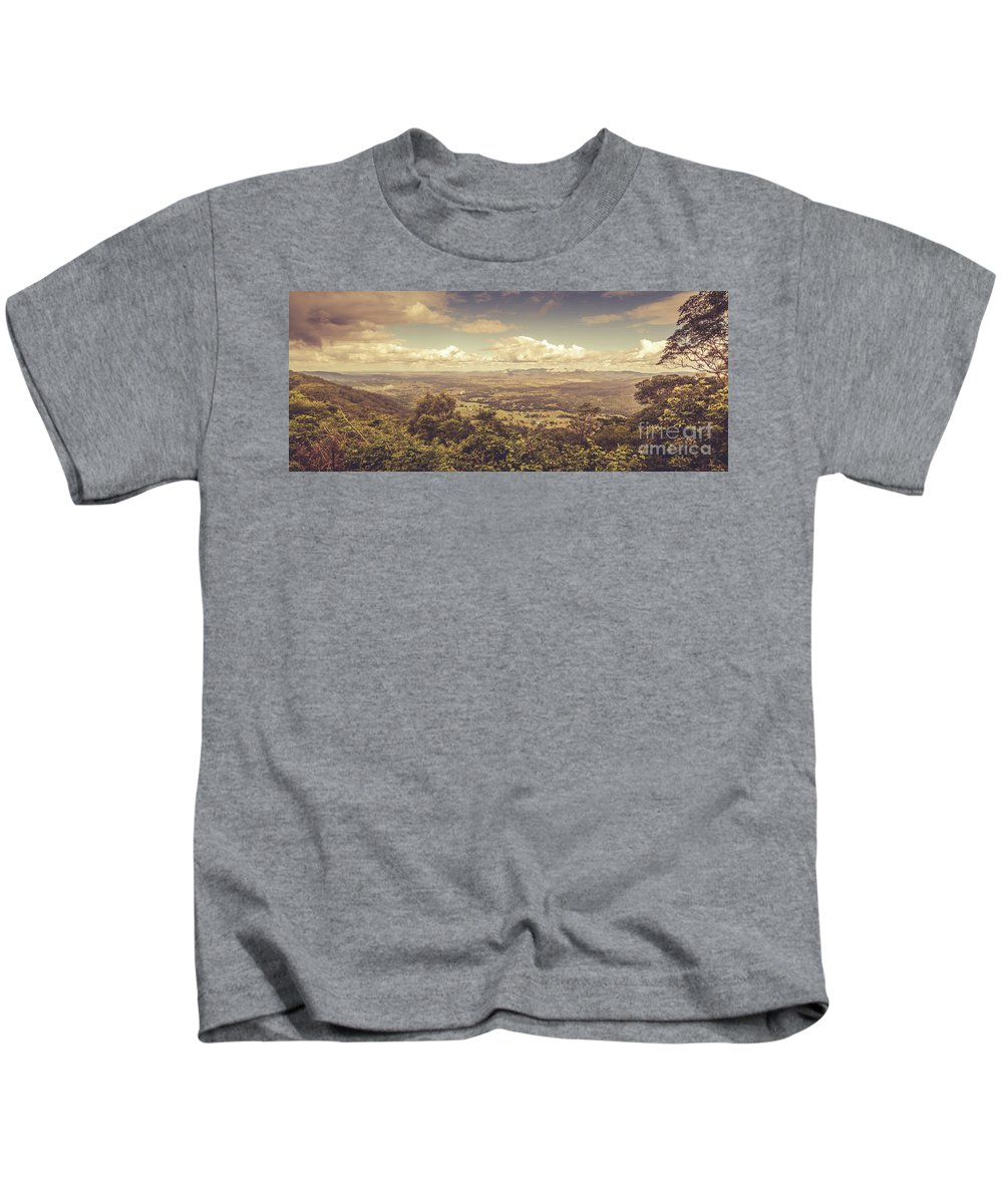 Pastel Kids T-Shirt featuring the photograph Mount Mee by Jorgo Photography - Wall Art Gallery