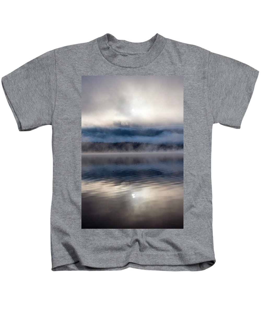 Grand Lake Area Kids T-Shirt featuring the photograph Obscured By Clouds by Jason Bohl