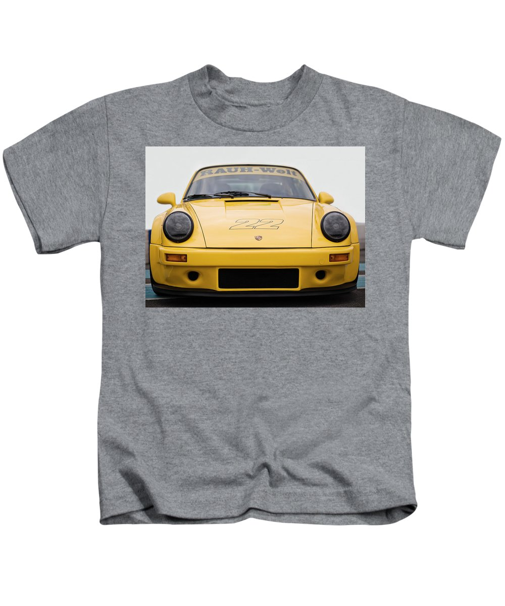 Porsche 911 Carrera Kids T-Shirt featuring the photograph Porsche 930 Rwb by Benjamin Dupont