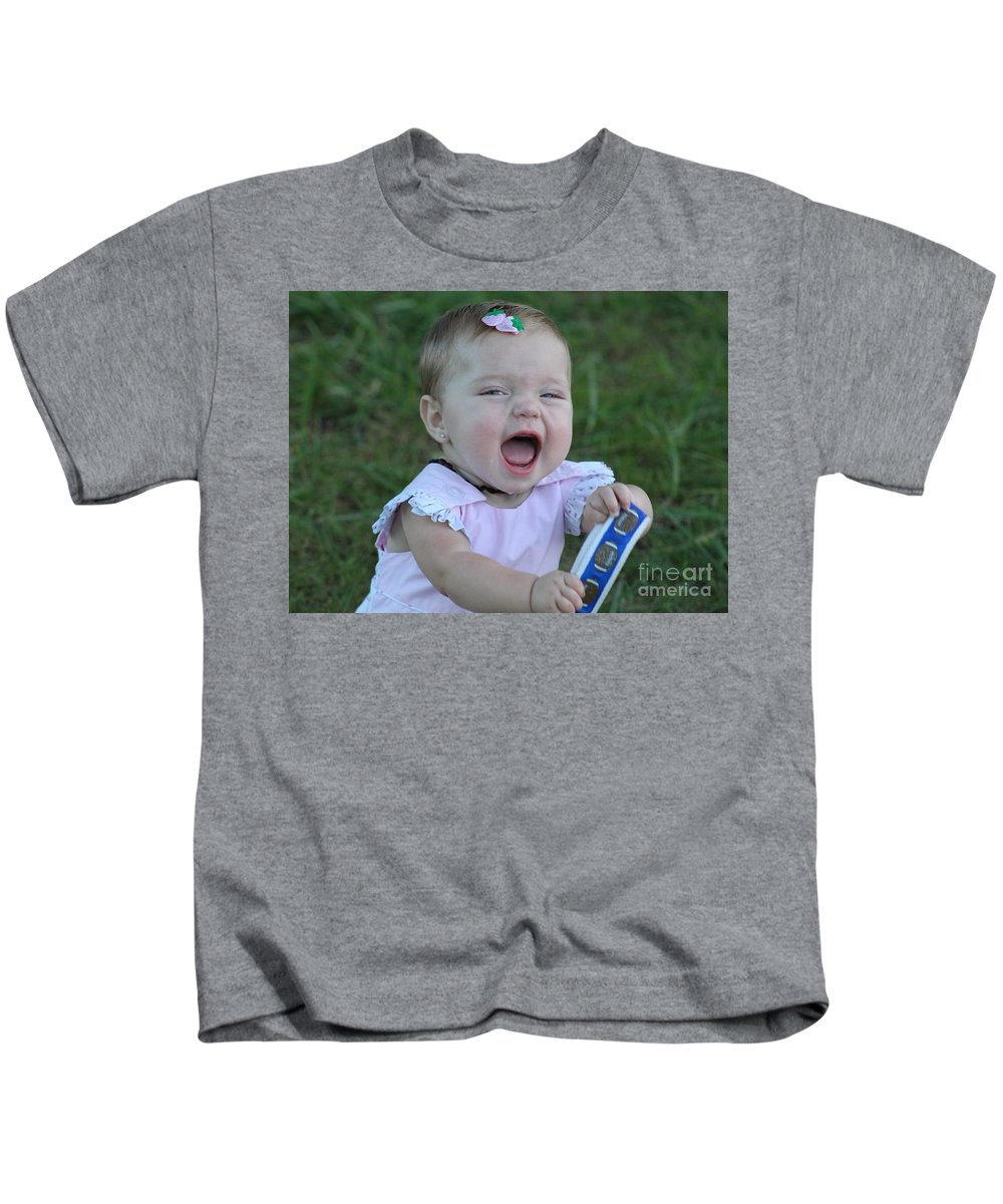 Baby Kids T-Shirt featuring the photograph Pure Joy by Leslie Gatson-Mudd