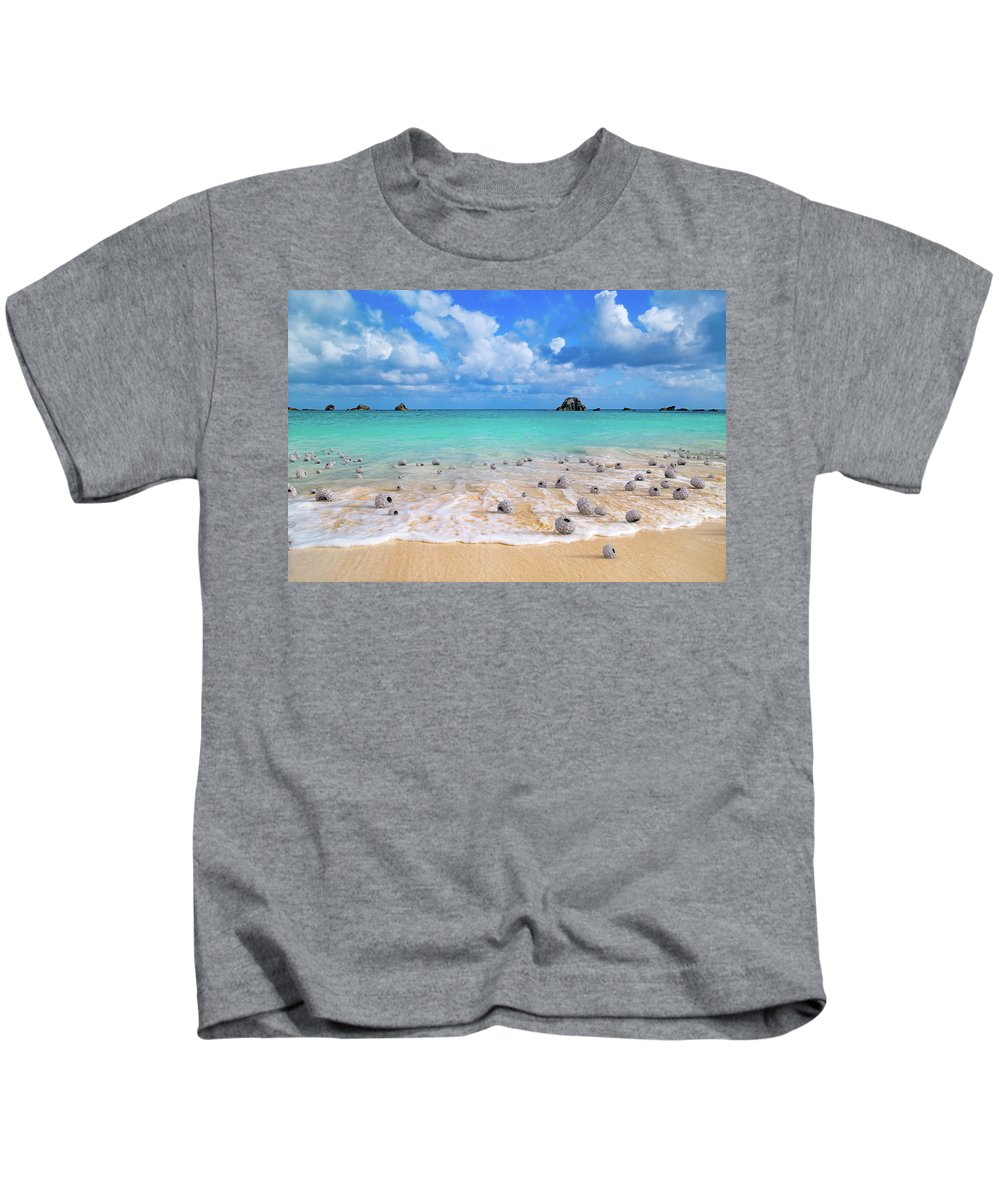 Surreal Kids T-Shirt featuring the digital art Sea Urchins by Betsy Knapp