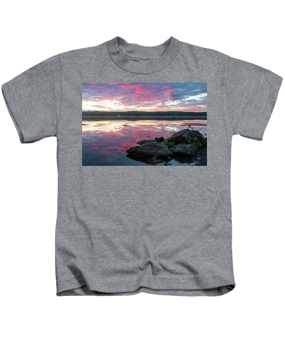 Sunrise Kids T-Shirt featuring the photograph September Dawn At Esopus Meadows I - 2018 by Jeff Severson