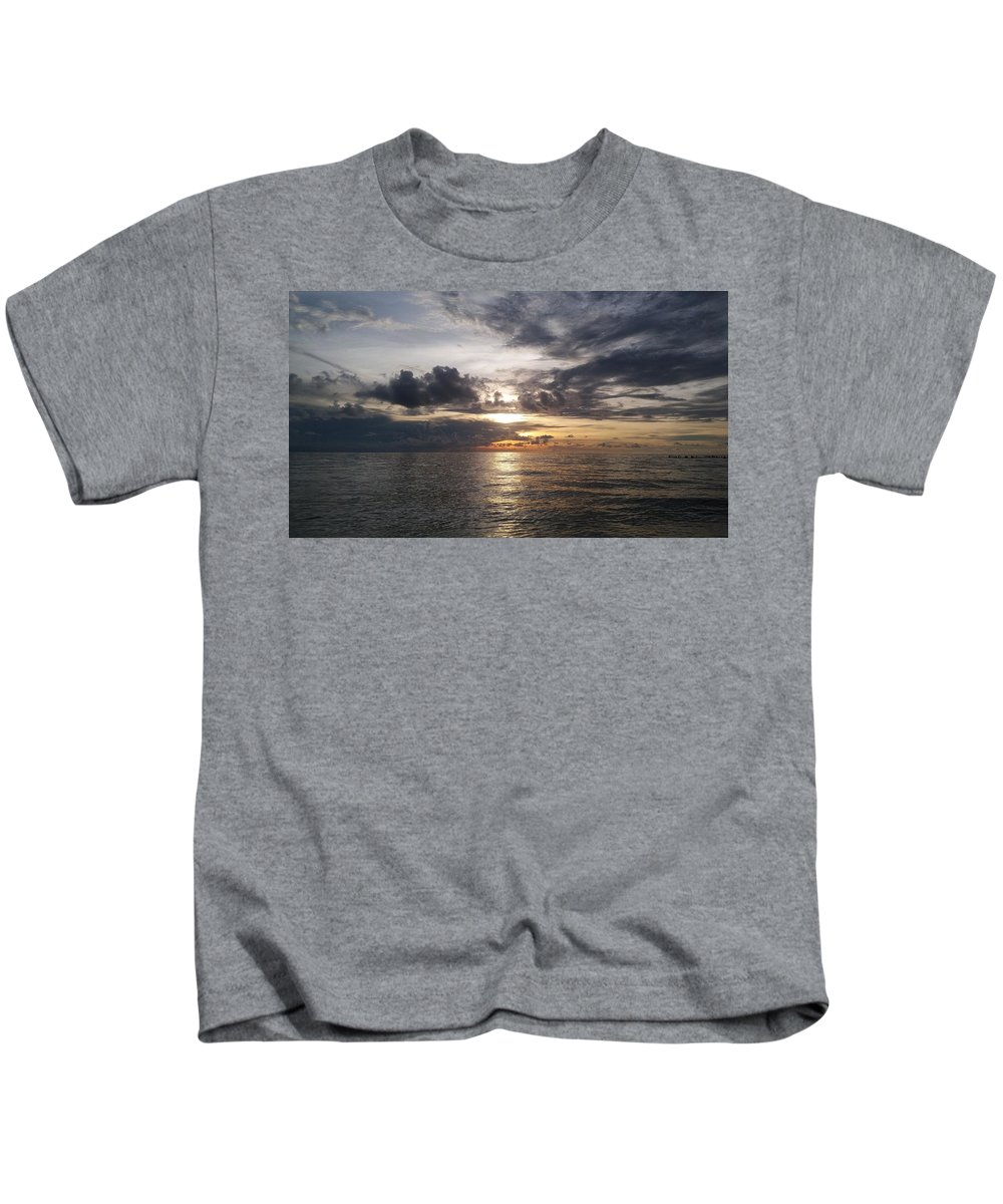 Sunset Kids T-Shirt featuring the photograph Sunset by Cora Jean Jugan
