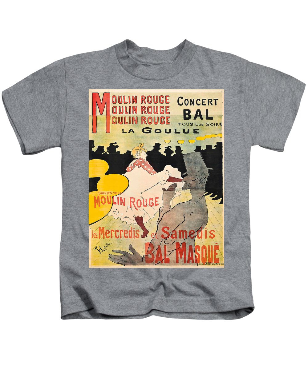 Advertisement Kids T-Shirt featuring the painting Vintage Poster - Toulouse Lautrec by Vintage Images