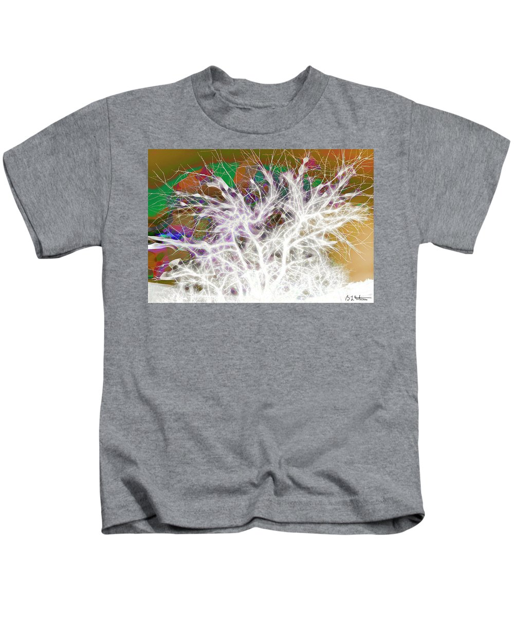 Tree Kids T-Shirt featuring the digital art Wasteway Willow 05 by Bruce Whitaker