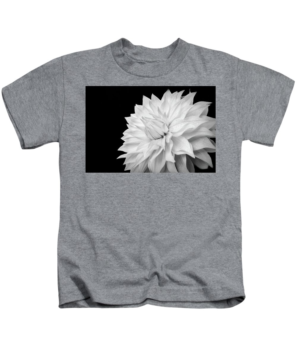 Dahlia Kids T-Shirt featuring the photograph White Dahlia by Judi Kubes