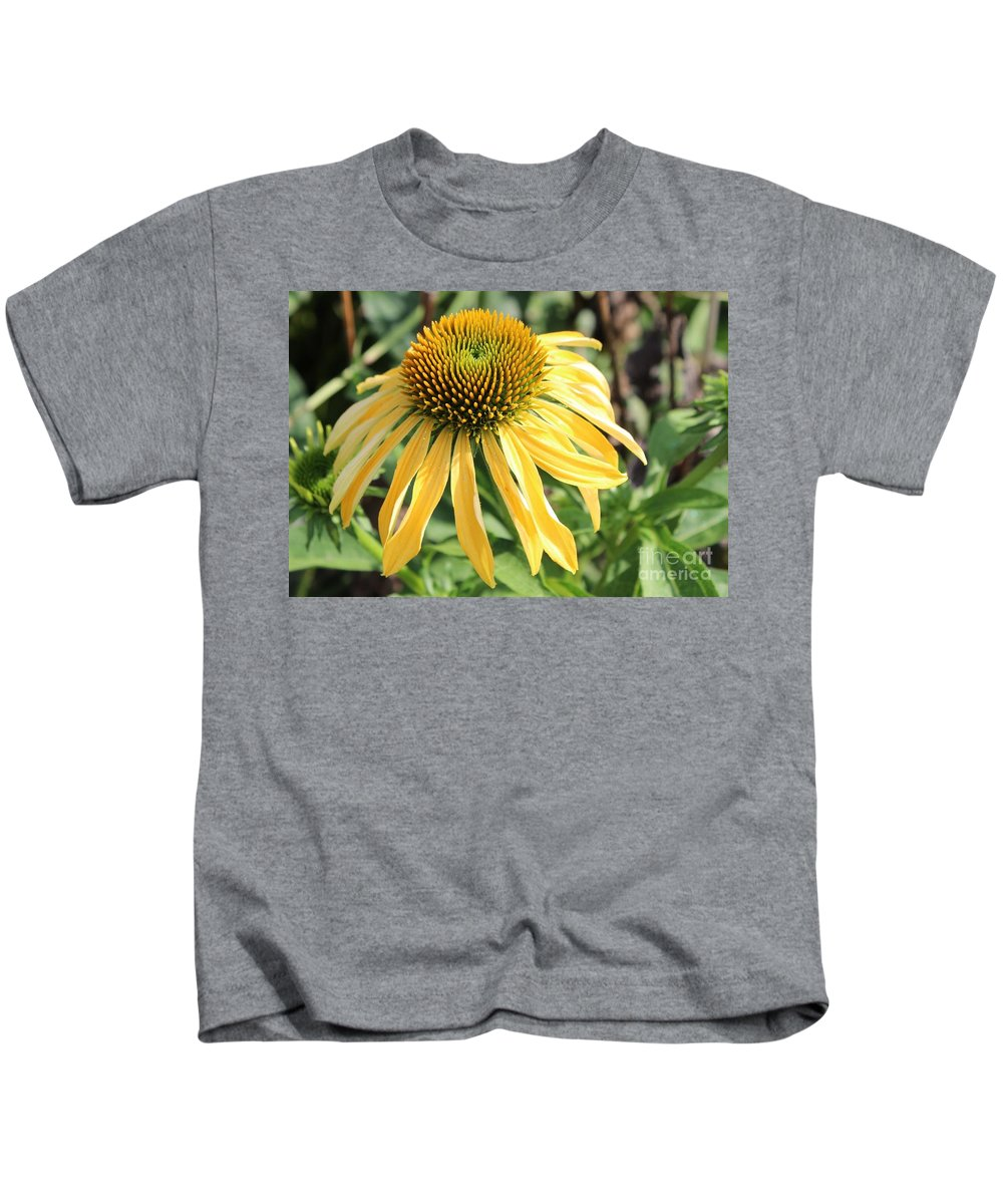 Yellow Flower Kids T-Shirt featuring the photograph Yellow Cone Flower by Leslie Gatson-Mudd