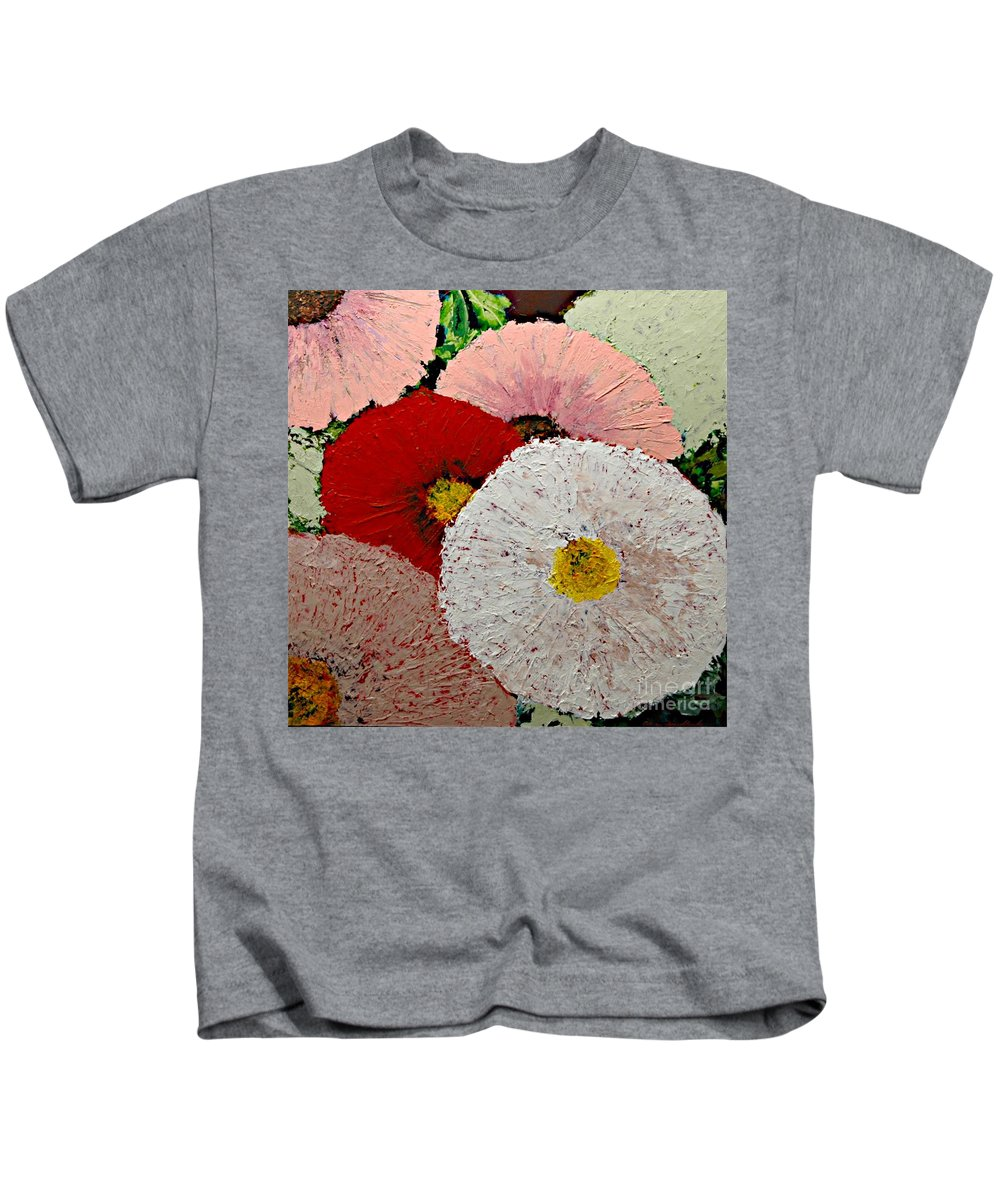 Landscape Kids T-Shirt featuring the painting From the Garden by Allan P Friedlander