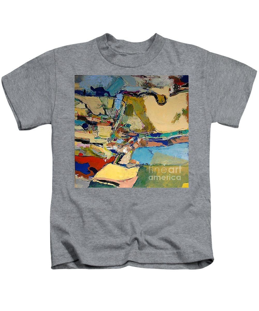 Landscape Kids T-Shirt featuring the painting Pastime Drive by Allan P Friedlander