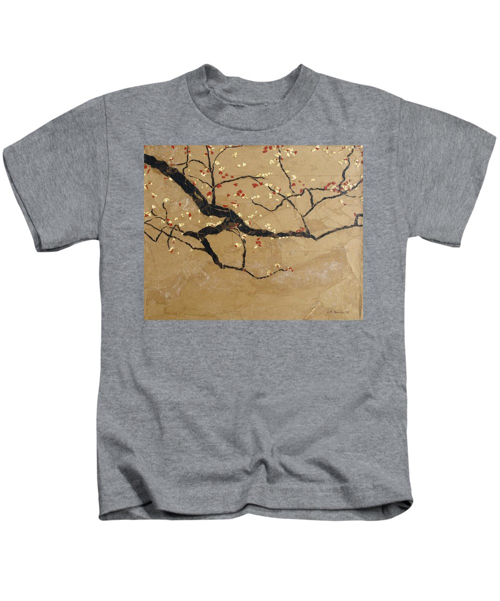 Blooming Branch Kids T-Shirt featuring the painting Branch by Leah Tomaino