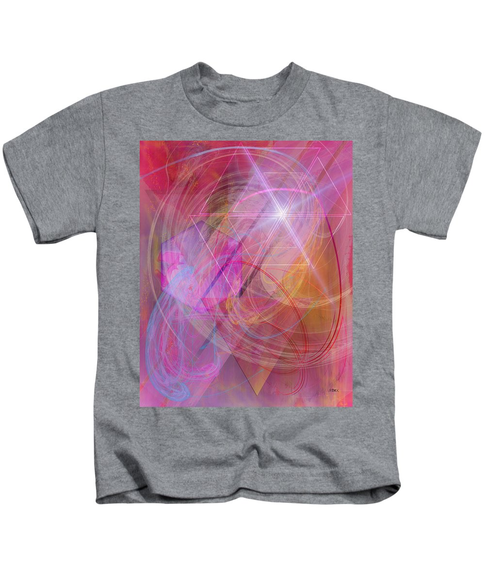 Dragon's Gem Kids T-Shirt featuring the digital art Dragon's Gem by John Robert Beck
