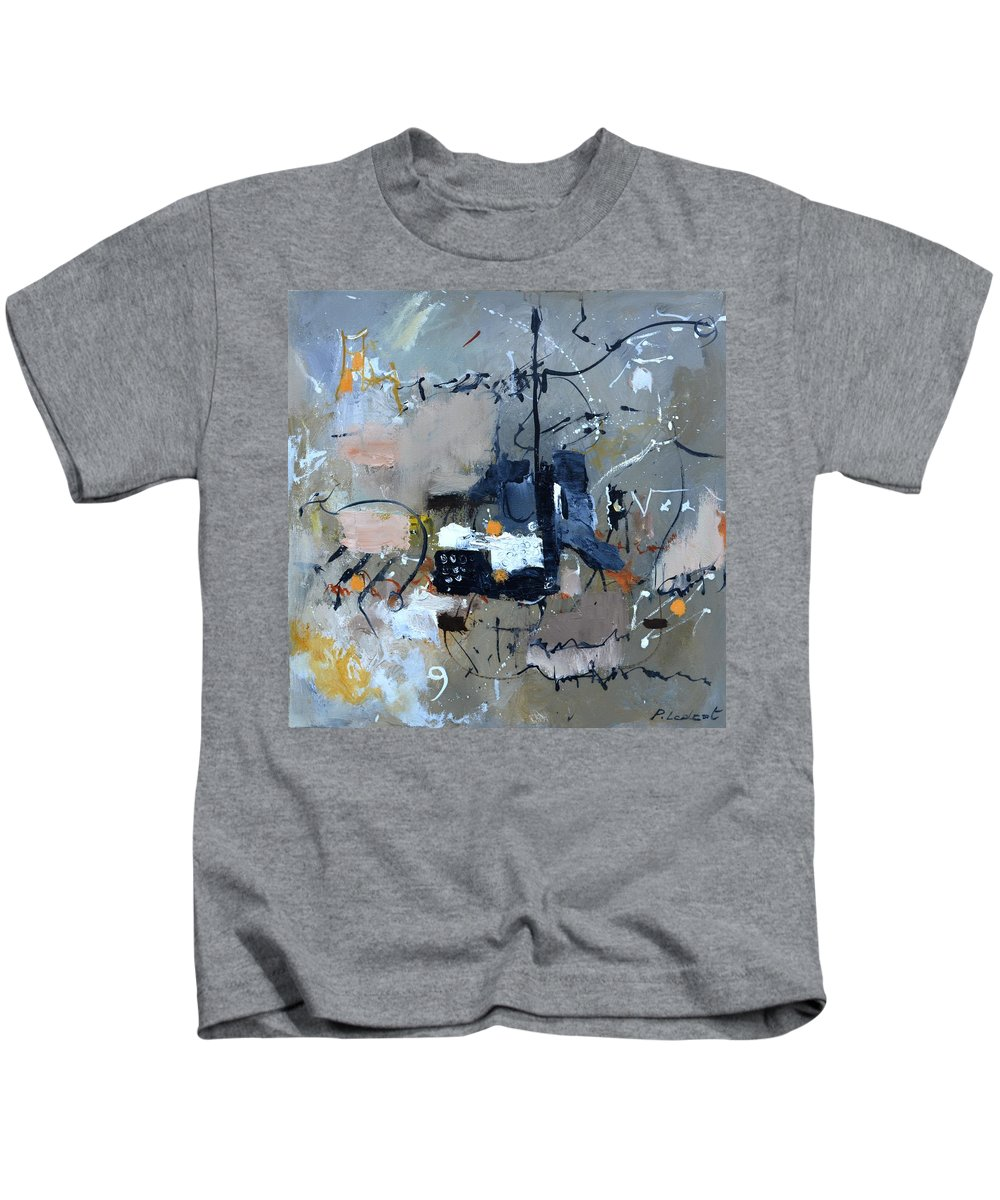 Abstract Kids T-Shirt featuring the painting Euclidean division by Pol Ledent