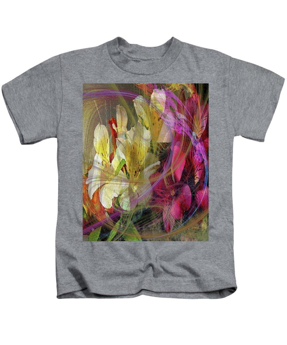 Floral Inspiration Kids T-Shirt featuring the digital art Floral Inspiration by John Robert Beck