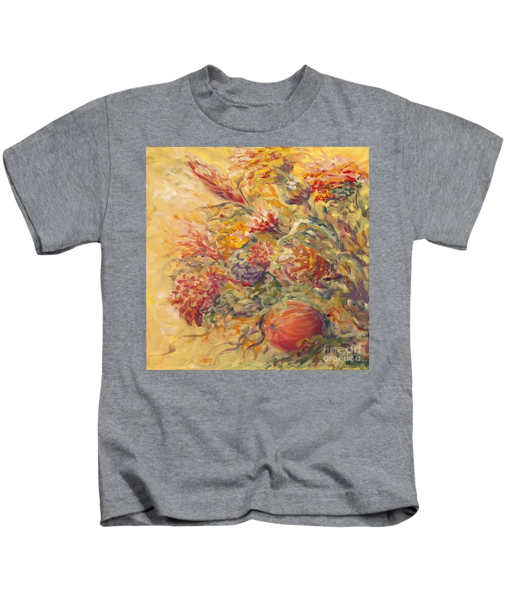 Butter Kids T-Shirt featuring the painting French Country Flowers II by Nadine Rippelmeyer